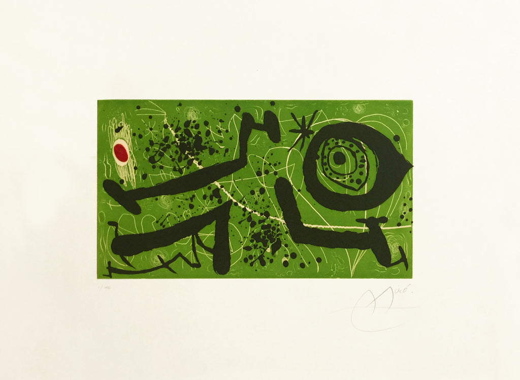 Joan Miró 'Picasso i Els Reventos' - Etching and aquatint in colours