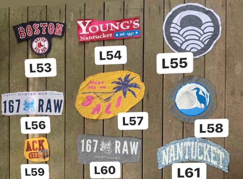 9 vintage t-shirt Patches-Nantucket theme