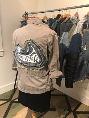 Khaki Happy Place Jacket