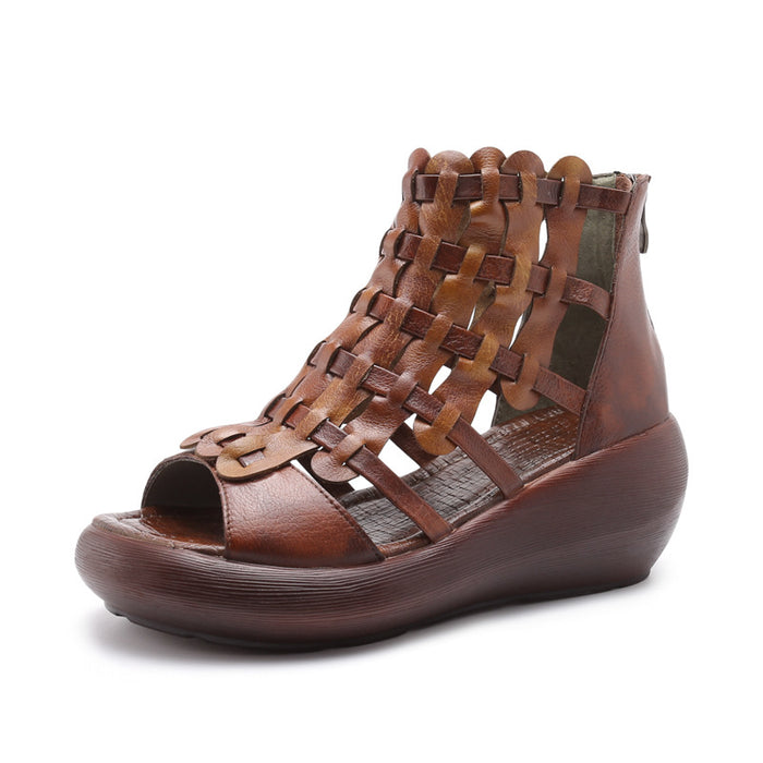 Women's Retro Wedge Hand-Woven Sandals