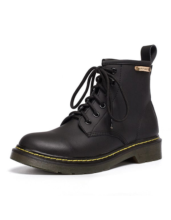 Autumn Smooth Leather Women's Doc Marten boots