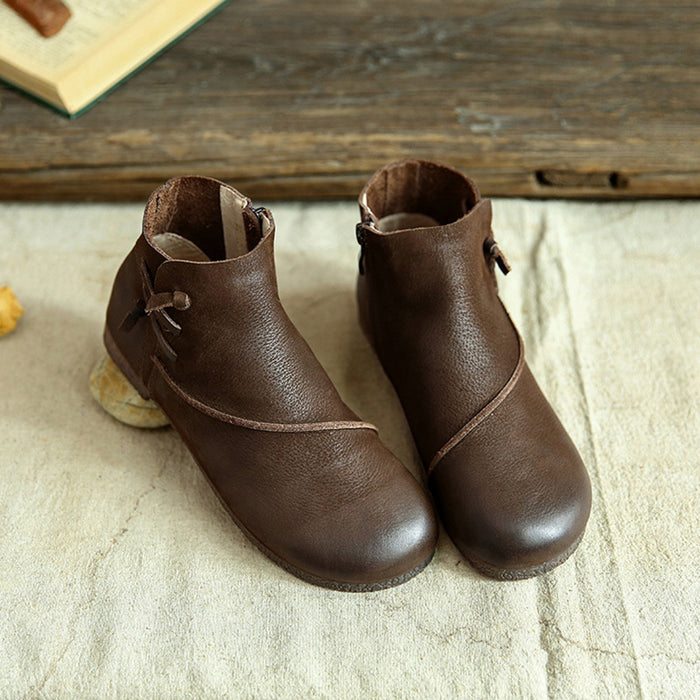 Autumn Handmade Leather Retro Boots | Gift Shoes