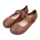 Autumn Literary Retro Flat Leather Women's Shoes | Gift Shoes