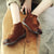 Autumn Retro Handmade Flat Women's Ankle Boots