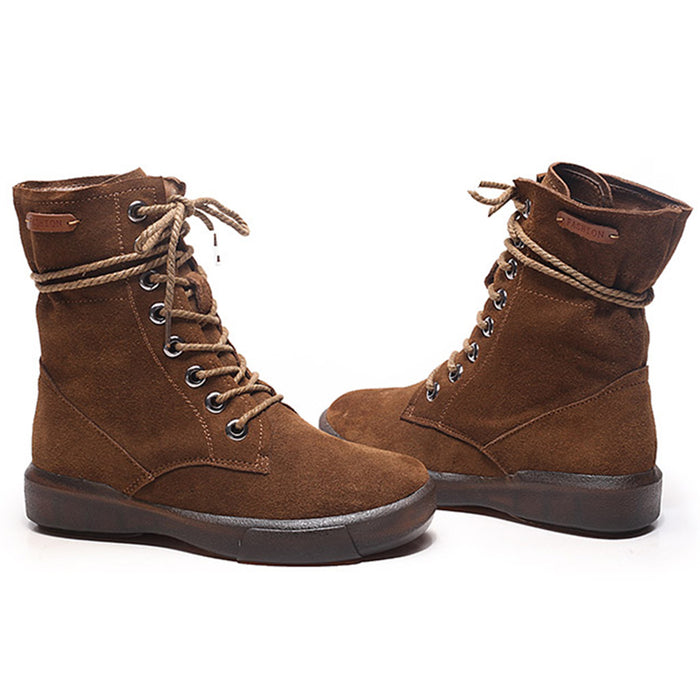 Soft Bottom Suede Women's Martin Boots