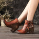 Autumn Winter Ankle Boots Five-Finger Retro Leather | Gift Shoes