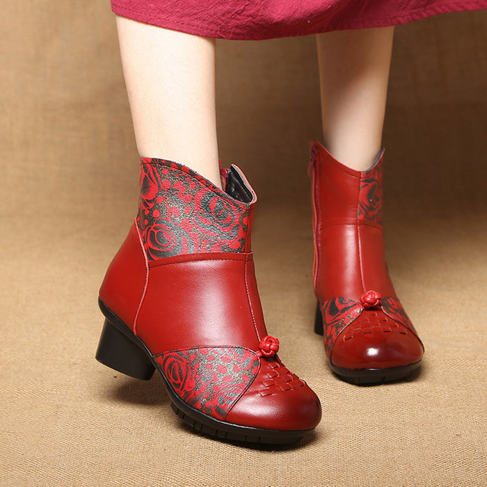 Winter Ethnic Leather Women's Boots | Gift Shoes