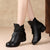 black boots, ankle boots, women winter boots