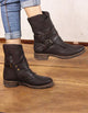 Autumn Winter Retro Casual Motorcycle Women Fashion Boots