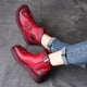 Autumn Winter Retro Leather Ankle Women's Boots | Gift Shoes