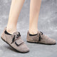 Autumn Winter Scrub Leather Keep Warm Flat Women's Shoes | Gift Shoes