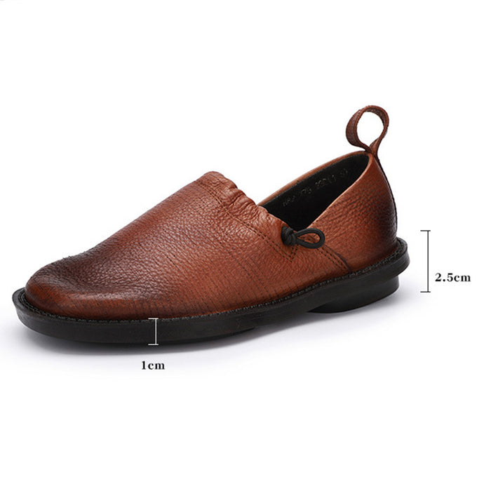 Winter Comfortable Retro Leather Flat Shoes | Obiono