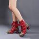 Autumn Winter Thick Leather Fashion Women's Vintage Ankle Boots | Gift Shoes 36-42