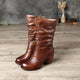 British Knight Leather Retro Women's Mid Boots