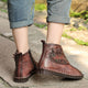Casual Leather Retro Flat Short Boots | Gift Shoes