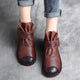Casual Retro Leather Handmade Short Boots | Gift Shoes