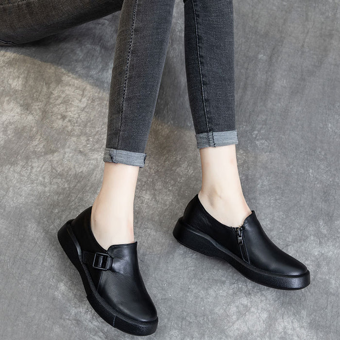 Comfortable Casual Women Leather Shoes 34-42