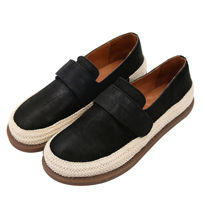 Comfortable Retro Leather Flat Women's Shoes | Gift Shoes