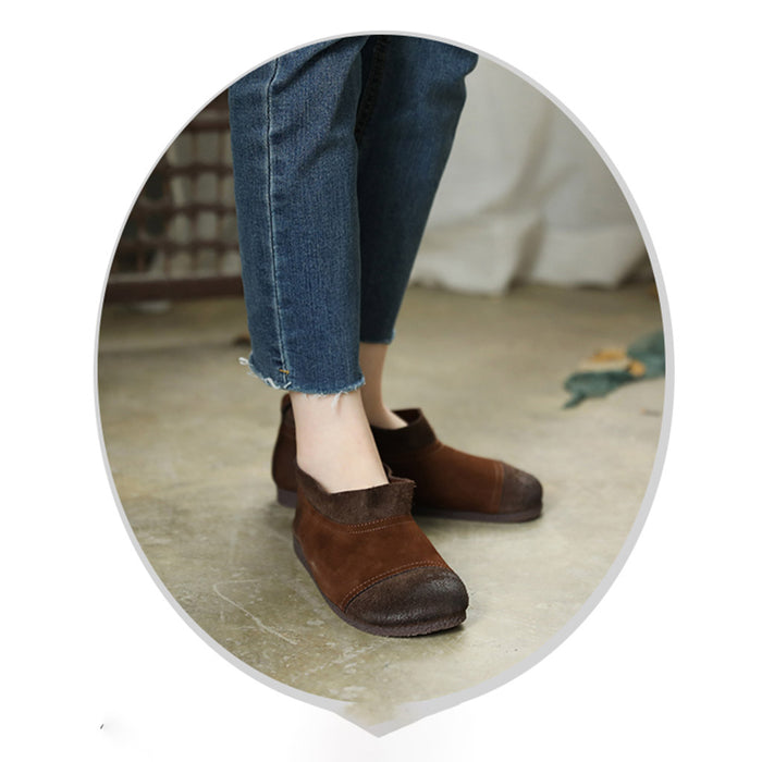 Cowhide Soft Sole Retro Women's Shoes