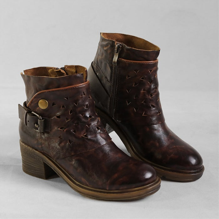 Distressed Handmade Retro Boots 35-41 | Gift Shoes