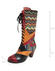 Ethnic Bohemian High Tube Handmade Boots 36-41