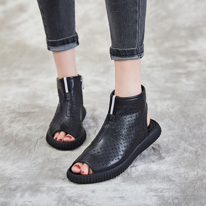 Casual Hollow Open Toe Sandals | Gift Shoes