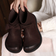Frosted Comfortable Vintage Bow Leather Boots