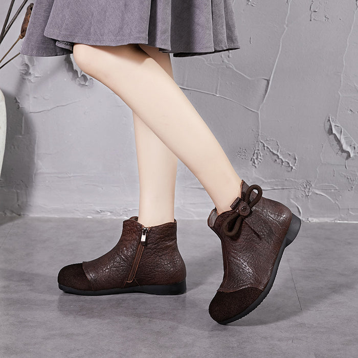 Gift Shoes Autumn Winter Retro Women's Handmade Boots
