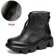 Gift Shoes Platform Wedge Leather Women's Retro Shoes