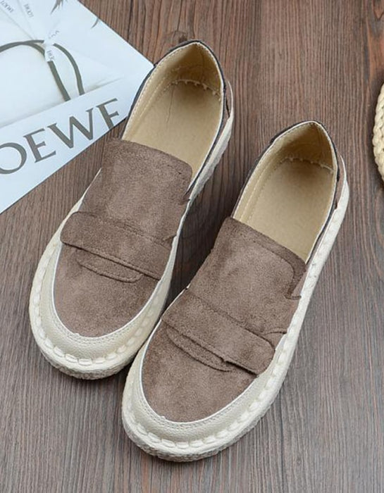 Hand-stitched Round Head Comfortable Loafers