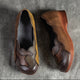 HandMade Color Matching Cow Tendon Retro Shoes