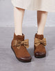 Handmade Bow-Knot Retro Leather Boots