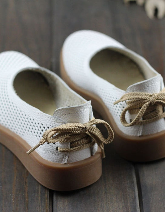 Handmade Leather Soft Retro Flat Shoes