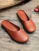 Handmade Retro Leather Slippers 35-43