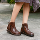 Handmade Leather Women's Retro Short Boots