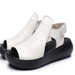 open toe sandals, white sandals, women's summer sandals