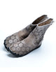 summer boots, gray boots, retro leather shoes women