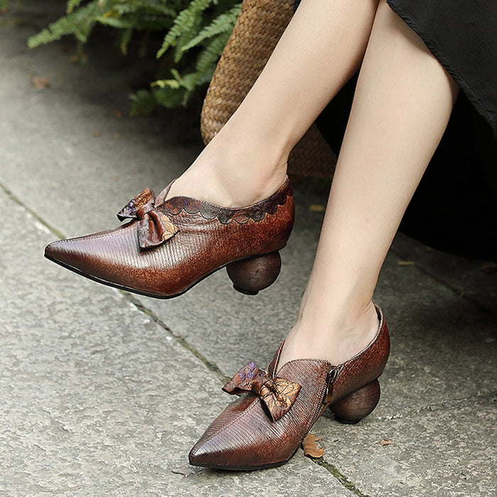 Leather Retro Fashion Women's Shoes | Gift Shoes