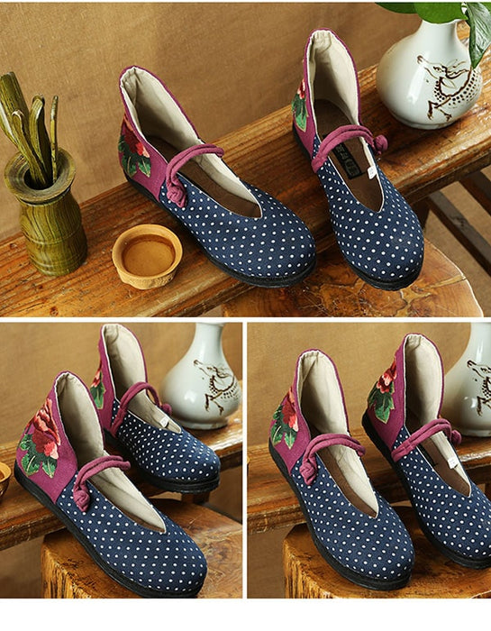 National Style Handmade Embroidered Women's Shoes