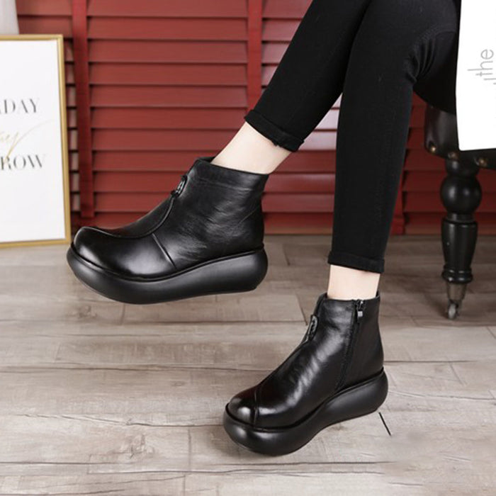 Platform Waterproof Retro Boots Women | Gift Shoes
