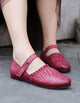 Pointed Women's Retro Leather Handmade Flats