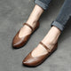Pointed Toe Buckle Strap Flats | Gift Shoes