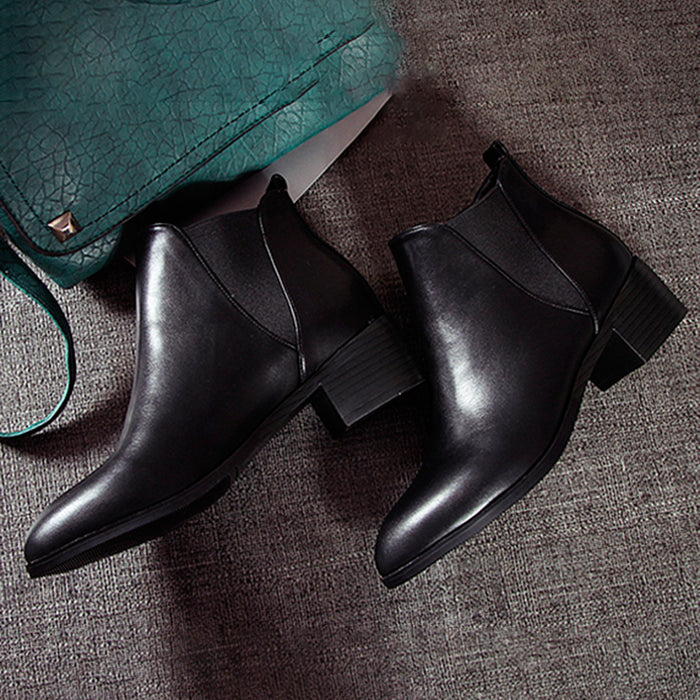 Pointed Toe Fashion Chelsea Boots |  34-43
