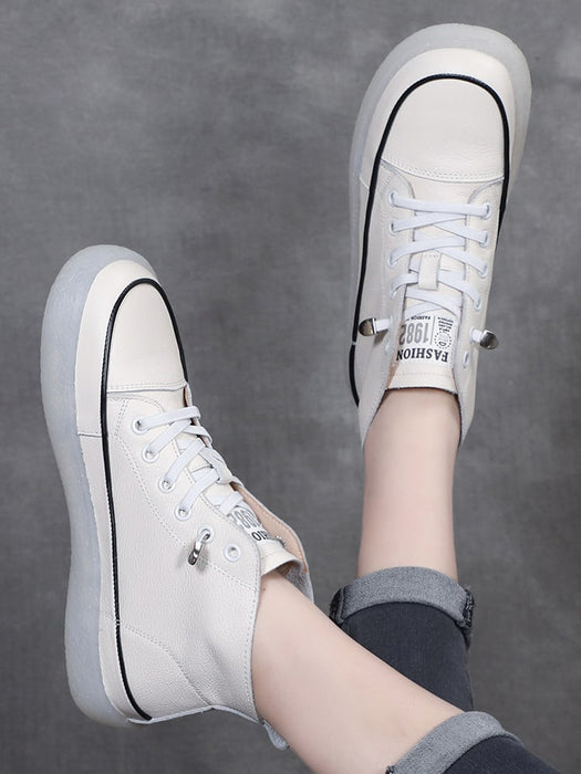 Retro Soft leather Women's Casual Sneakers