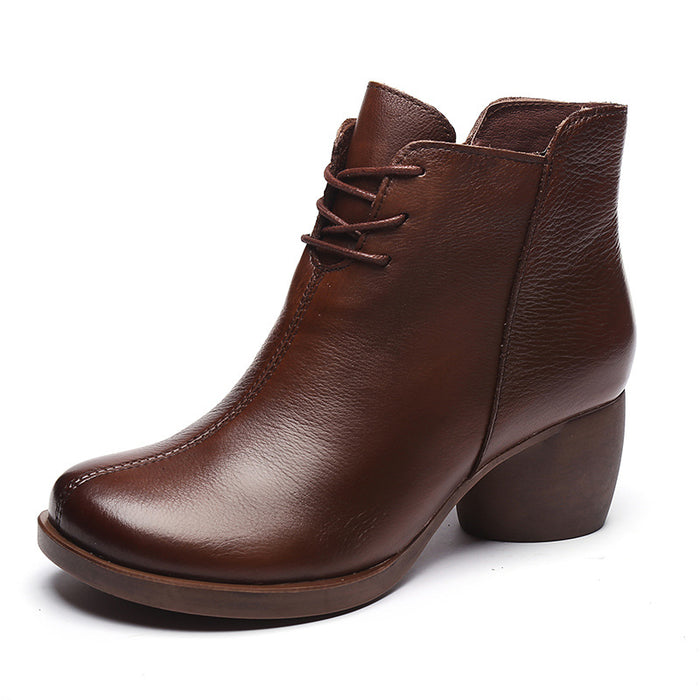 Retro Comfortable Chunky Boots | Gift Shoes
