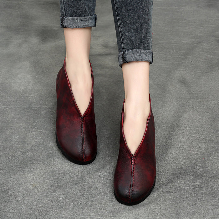 Retro Flat Ankle Boots | Gift Shoes