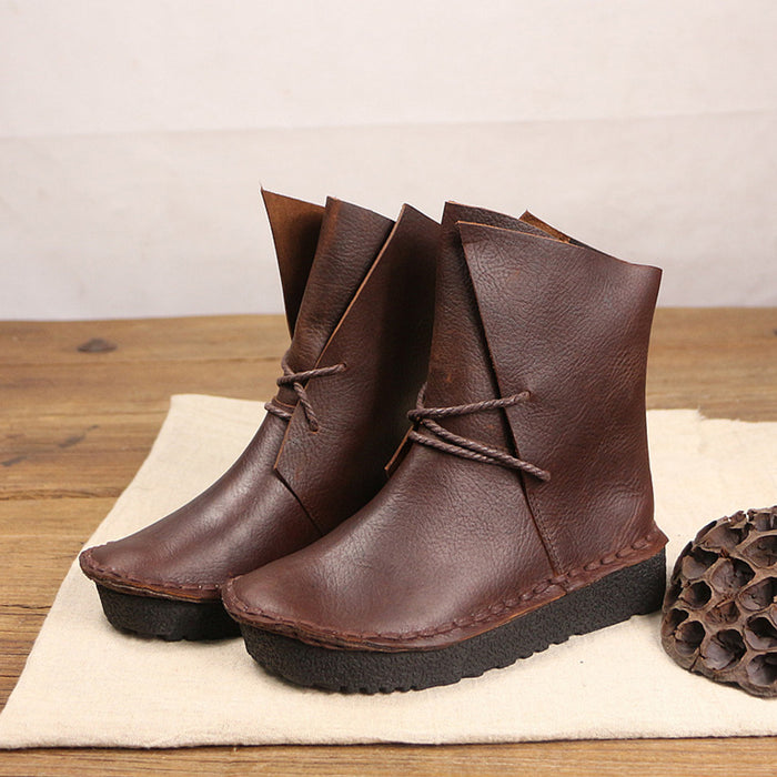 Retro Handmade Casual Leather Boots | Gift Shoes