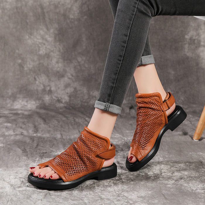 Retro Handmade Leather Women's Sandals  | Gift Shoes