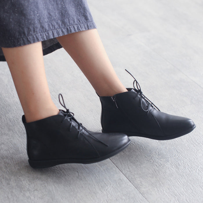 Retro Handmade Pointed Toe Boots | Gift Shoes