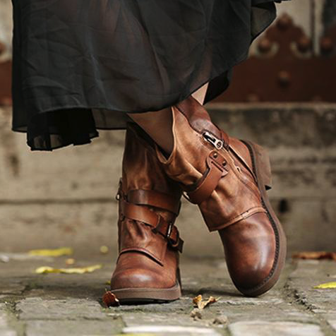 Original Classic Leather Buckle Long Boots| 34-43